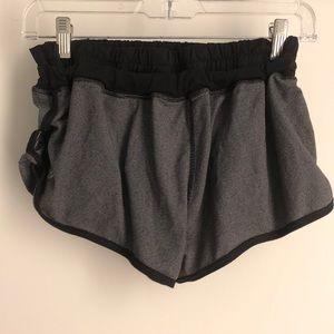 lululemon athletica Shorts - Lululemon grey tie shorts sz 8 69964